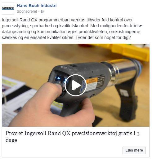 eksempel på en b2b facebook annonce
