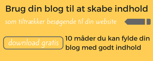 content marketing ideer til din blog