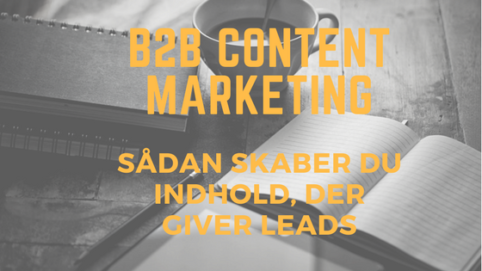 b2b content marketing, der skaber leads