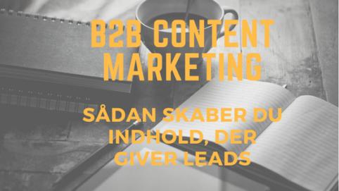 b2b content marketing, der skaber leads