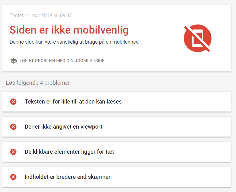 mobilvenlig - mobile first indexing