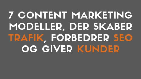 content marketing modeller
