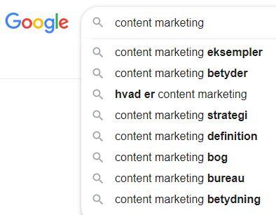 google suggest søgninger